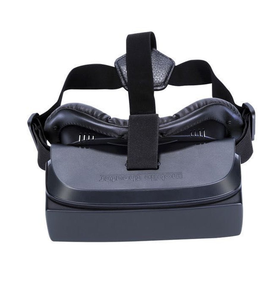3d vr virtual reality glasses all in one vr case headset goggles box for virtual reality game system (Dark Black)