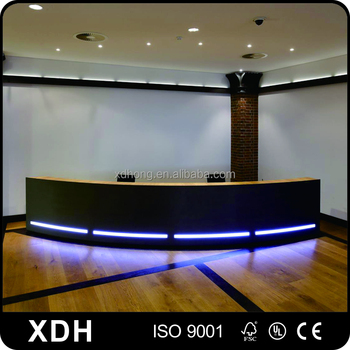 Klassische Büro Tisch Vorne Design Halbrunde Rezeption Mit Led - Buy ...