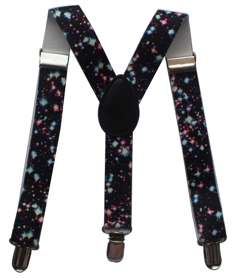 2.5cm wide Pair of Fashion Braces Adjustable in a Leopard print design suspenders