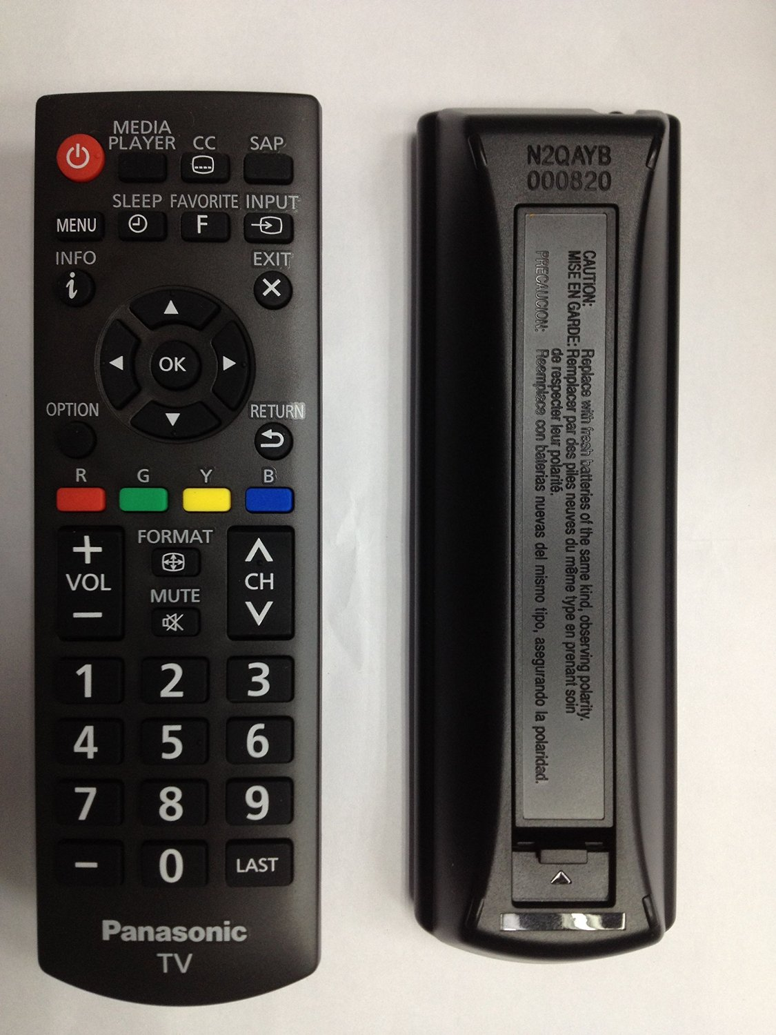 New OEM Replacement Remote Control N2QAYB000820 for Panasonic TVs TCP42x60 TC32A400U TC39A400U TC40A420U TC50A400U TCL32B6 TCL32B6P