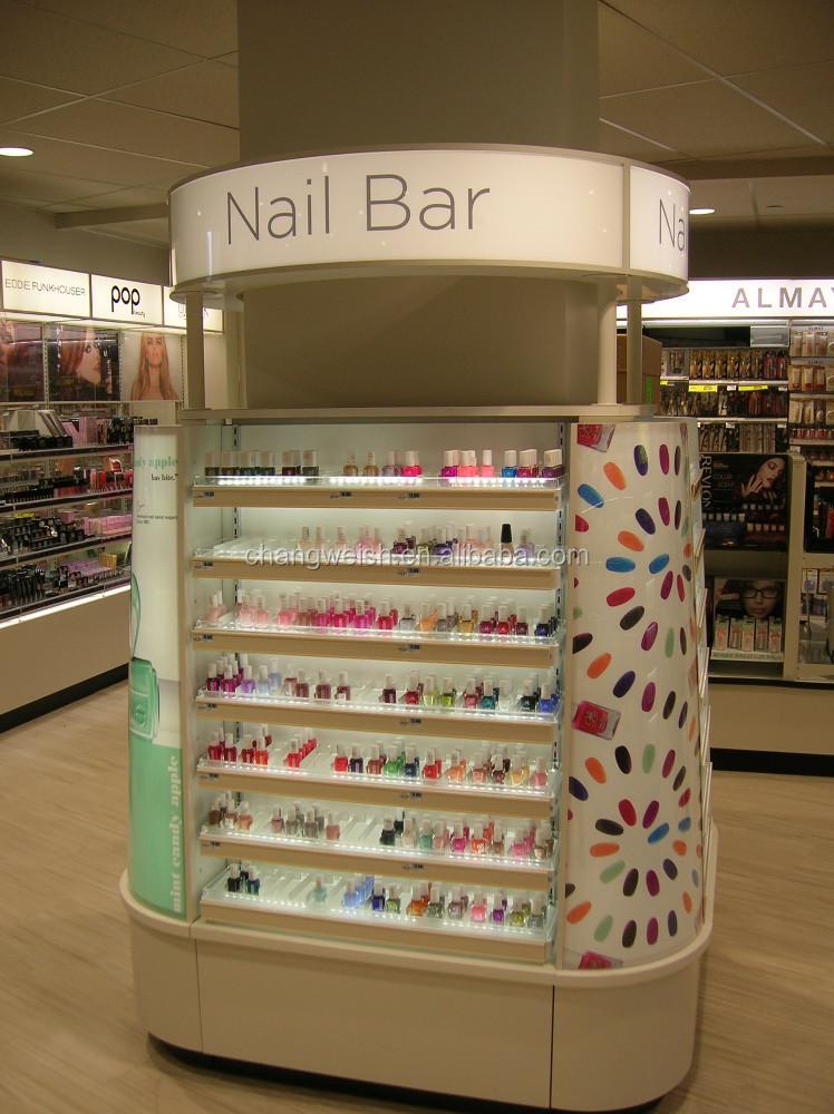 Salón de belleza display, display muebles para bar de uñasEstantes