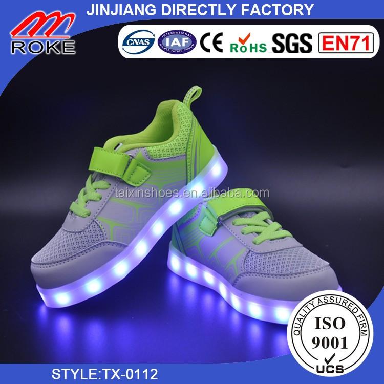... Originální LED tenisky Nejlepší kvalitní LED boty Populární Unisex LED  boty pro děti ... c631371a18