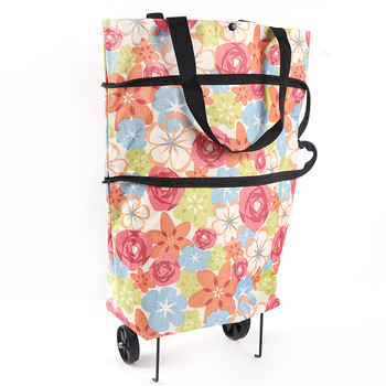 Hot Selling trolley canvas folding shopping cart