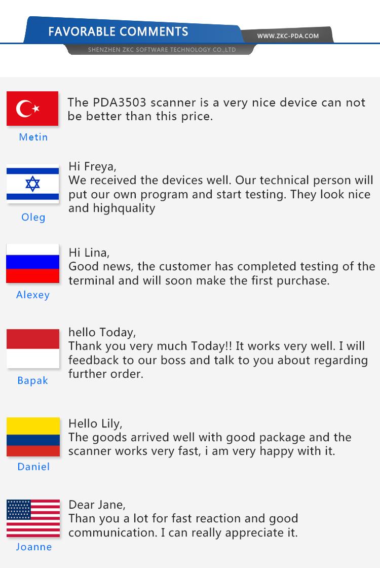 ZKC5501 Android El Akıllı POS Terminali Yazıcı Ile