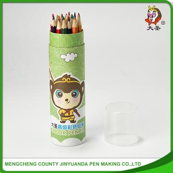24 Pcs Tip Top Artists Kids Color Pencil In Metal Pencil Case ...