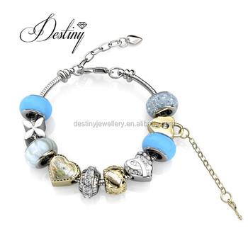 Destiny Jewellery Charms Crystal Beads Bracelet For Women With Crystals From Swarovski