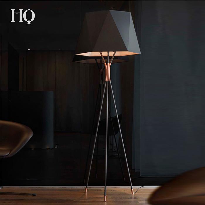 Modern Luxury Black White Metal Fabric Shadelamp Large Floor Lamp To Add Atmosphere The Living Room Standing Hotel
