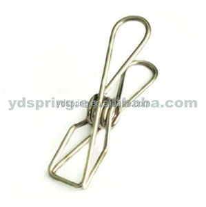 Custom stainless steel retaining spring clip for paper