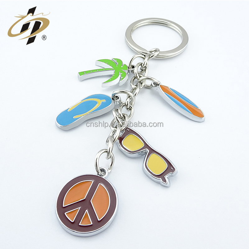 Wholesale design your own custom brand whistle sports club key finder keychain