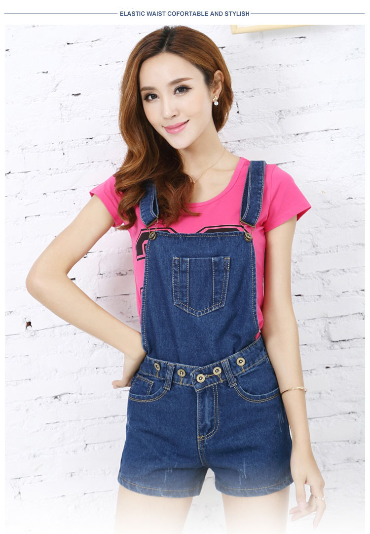 2c42e7a5ff71 Get Quotations · 2015 Korean summer women students loose denim shorts  jumpsuit macacao feminino womens big yards casual denim
