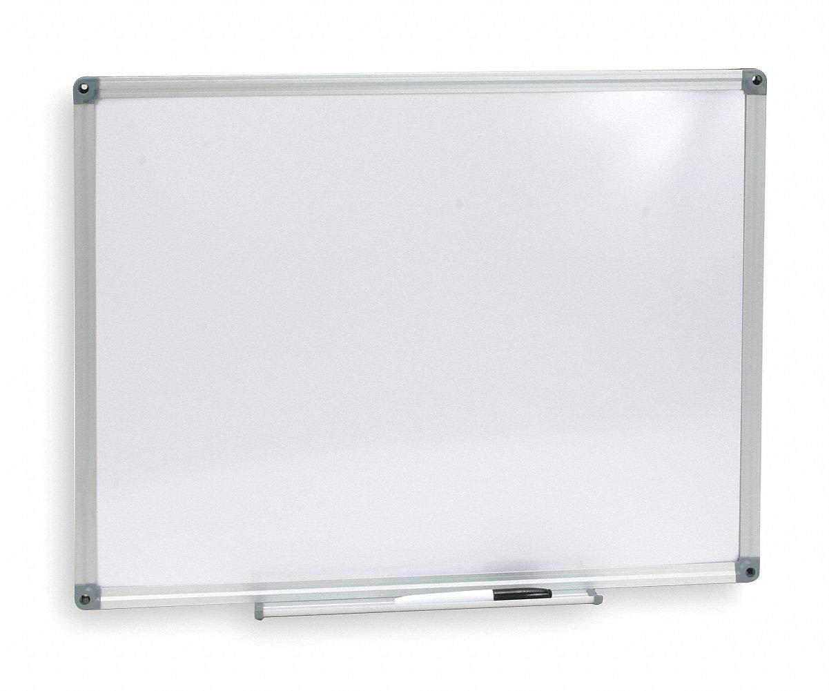 "CAI Approved Gloss-Finish Melamine Dry Erase Board, Wall Mounted, 18""H x 24""W, White"