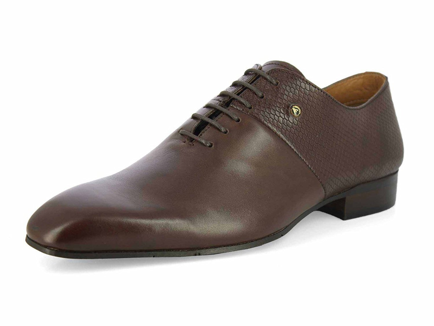 e9130c0b899f Get Quotations · ALBERTO TORRESI Leather Adriano Brown Formal Shoes for Men