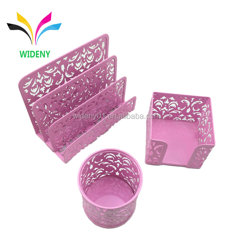 Fabulous Office File Metal Mesh Punch Tray Pink Desk Organizer Set Buy Desktop Organizer Set Desktop Set Office Desk Organizer Set Product On Alibaba Com Beutiful Home Inspiration Xortanetmahrainfo