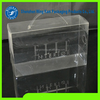 Portable plastic see through shoe box, clear plastic shoe box packaging