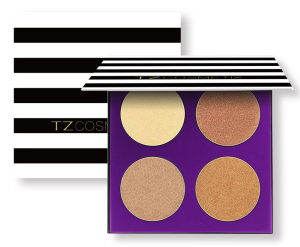 2017 TZ Brand Popular Makeup Kit 4 Colors Shimmer Contour Palette Waterproof Pro Highlighter Makeup