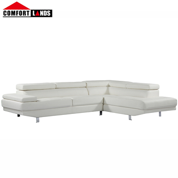 Magnificent Modern L Shape Sectional White Bonded Leather Sofa Living Room Furniture Buy L Shape Sectional Sofa White Bonded Leather Sofa Sofa Living Room Gamerscity Chair Design For Home Gamerscityorg