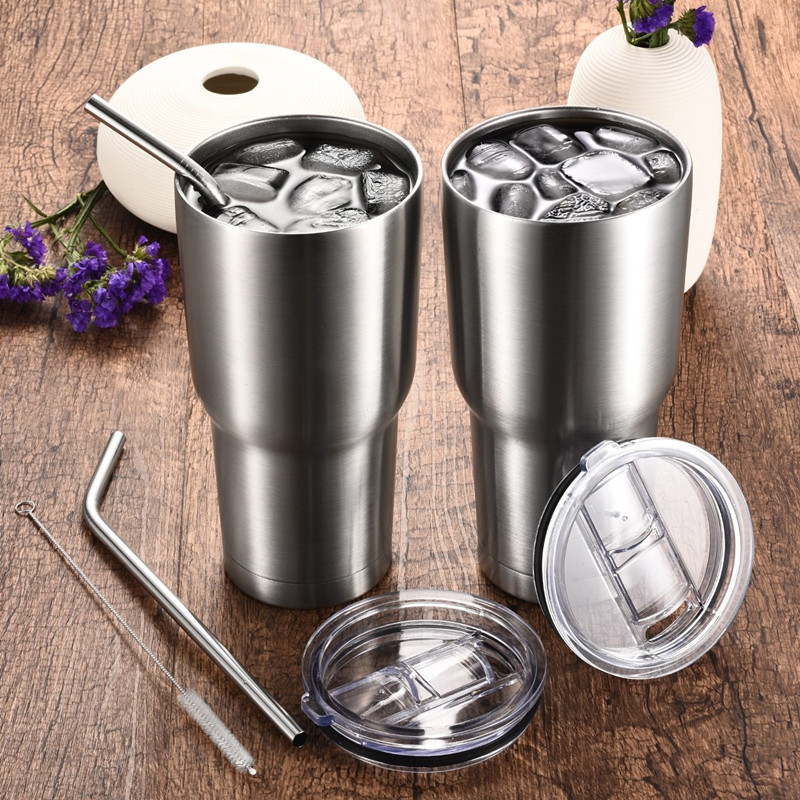 Wholesale Stainless Steel Cup Coffee cooler Insulated Tumbler 30oz wine tumbler