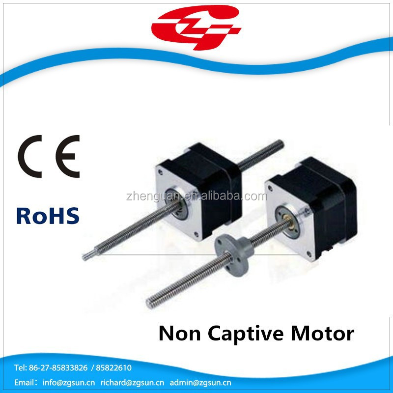 china supplier linear non Captive Motor 2 phase Nema 17 Stepper motor 42HSL