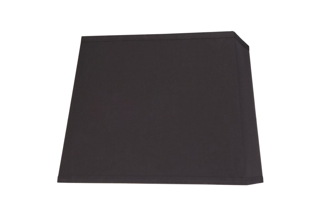 """Aspen Creative 36041 Transitional Rectangle Hardback Shaped Spider Construction Lamp Shade in Black, 8"""" + 12"""" Wide (5"""" + 10"""") x (8"""" + 12"""") x 9 1/2"""""""