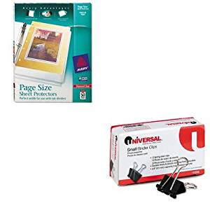 KITAVE74203UNV10200 - Value Kit - Avery Top-Load Poly 3-Hole Punched Sheet Protectors (AVE74203) and Universal Small Binder Clips (UNV10200)