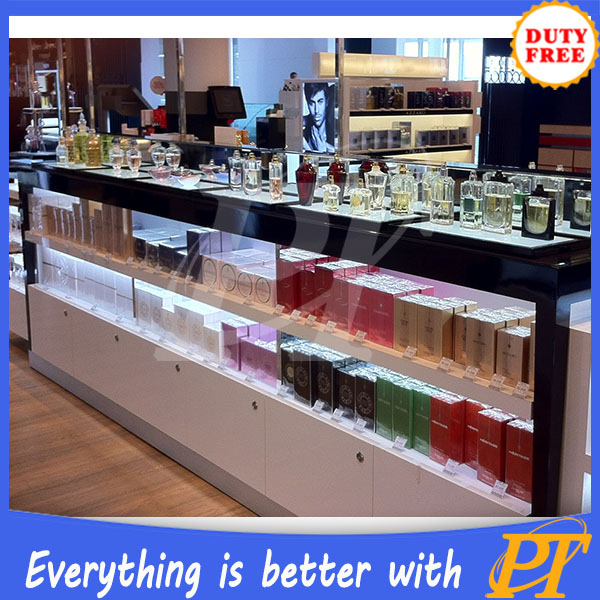 Perfume display showcase/perfume glass display stand/perfume glass display showcase