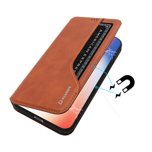 New Arrival Magnetic PU Leather Flip Mobile Phone Case With Wallet For iPhone X