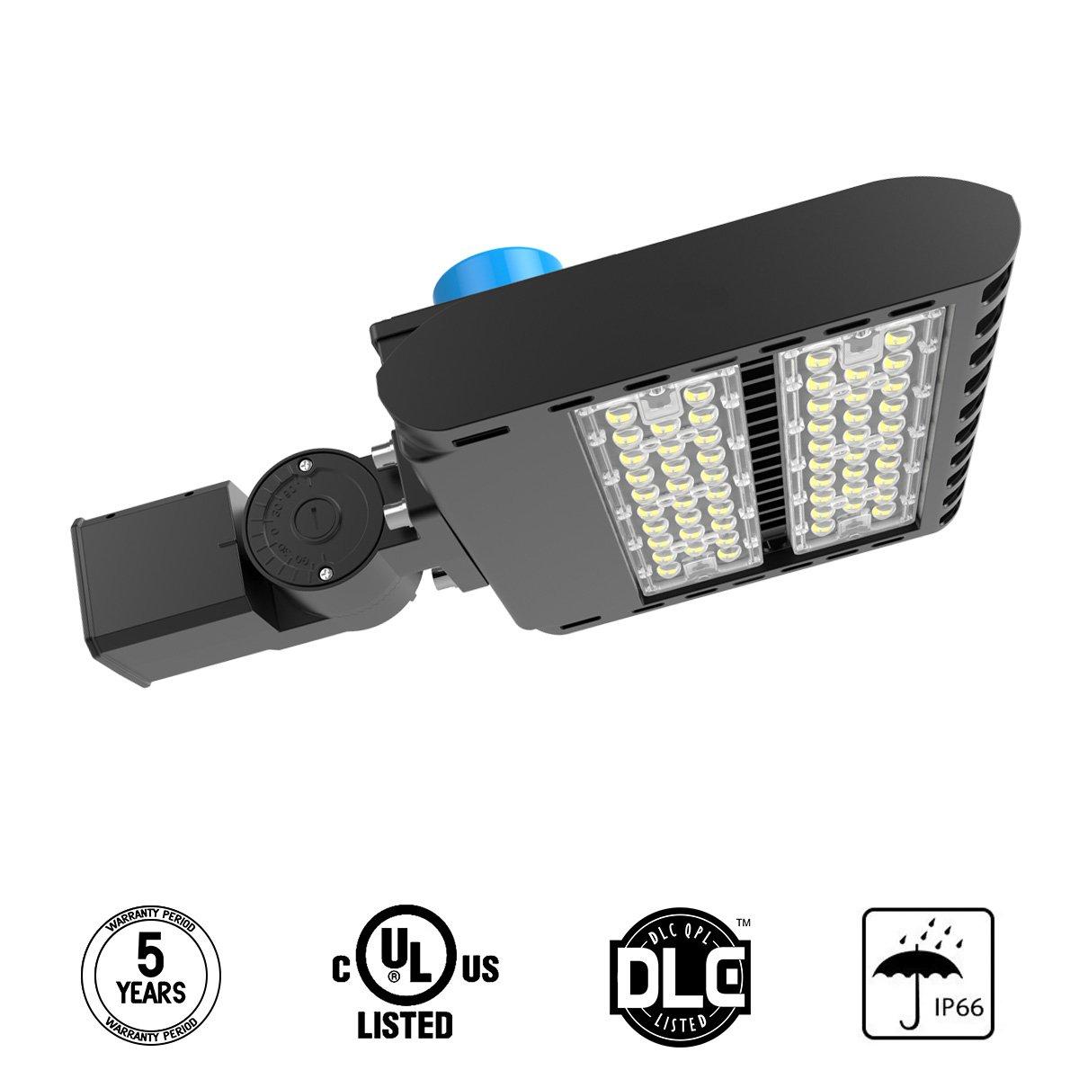 Adiding LED Parking Lot Light 3-Type Mounts 150W Street Area Light Lumileds SMD 3030 LED 130 Lm/W Daylight 5700K Bright White Light with Photocell Sensor&Shorting Circuit Cap IP66 UL DLC Listed