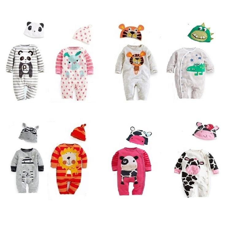 En gros 100% coton bébé vêtements doux élégant bébé hiver barboteuse set bébé barboteuse