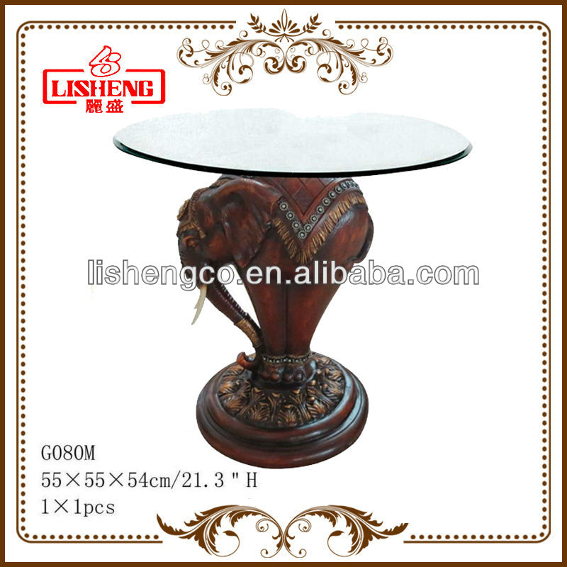 Resin Gl Coffee Table With Animal Base Product On Alibaba