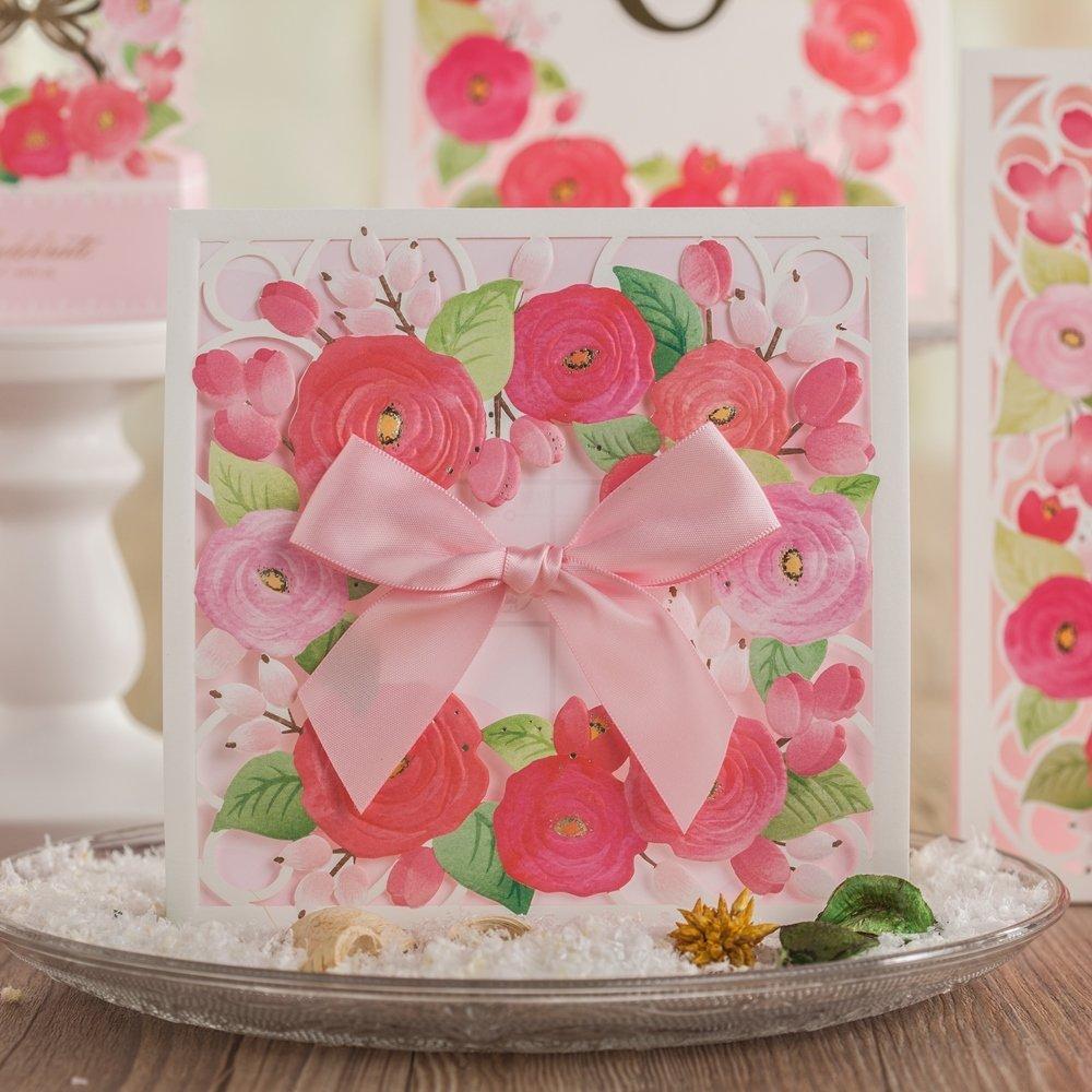 Buy Wishmade Elegant Handmade Pink Ribbon Decorative Pocket