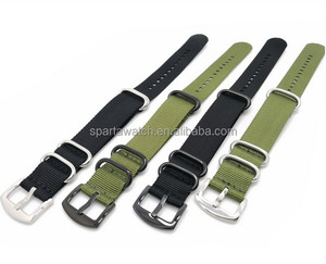 High Quality 16mm 18mm 20mm 22mm 24mm Nylon Nato Watch Strap watchband
