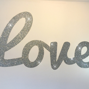 Self Adhesive Home Decorative Applicable To Girls Room Glitter Custom Alphabet Stickers,Gold