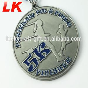 No Minimum Order Cheap Custom Metal Prize Medals For Running