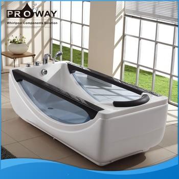 Proway acrylic material massage bathtub whirlpool tub for Best acrylic bathtub to buy
