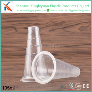 PP plastic disposable ice pop long jelly cup ice cream cone cup transparent
