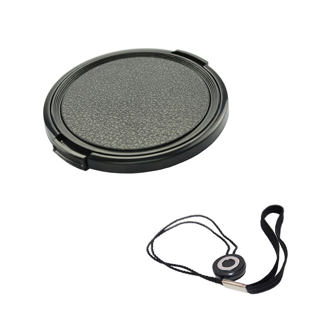FoRapid 58mm Side-Pinch Snap-On Front Lens Cap/Cover with Lens Cap Holder Keeper for Canon Nikon Sony Olympus Pentax all DSLR Cameras