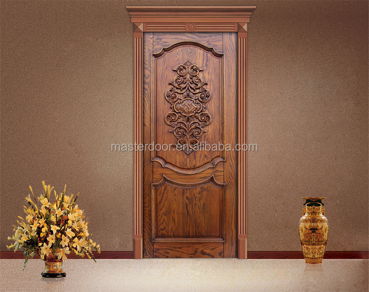 Simple teak wood front door designs in moroccan buy for Simple main door design