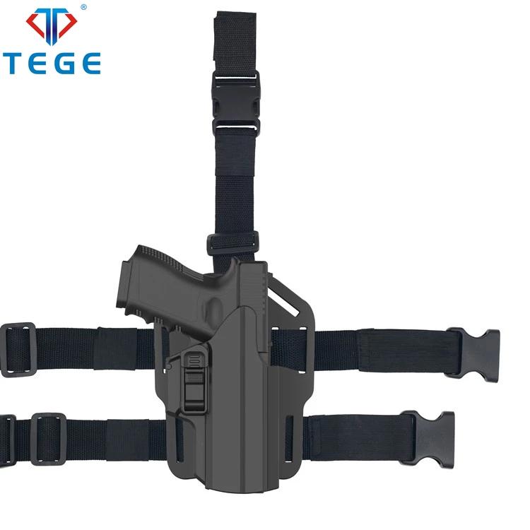 Tege police equipment 360 degree Universal IPSC polymer Holster  drop leg holster