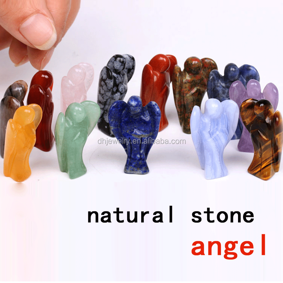 new products 2016 wholesale natural engraved crystal angel for gifts