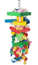 Parrot Knots Block Chewing Toy