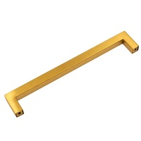 Brush Brass Furniture Hardware 12x12mm 96mm Stainless Steel Kitchen Cabinet Square Pull Handle