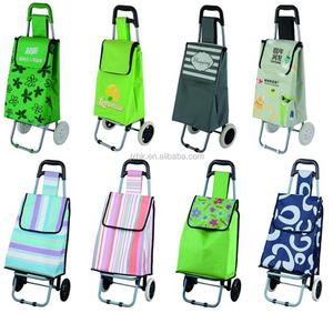 folding shopping cart trolley bags with customized logo