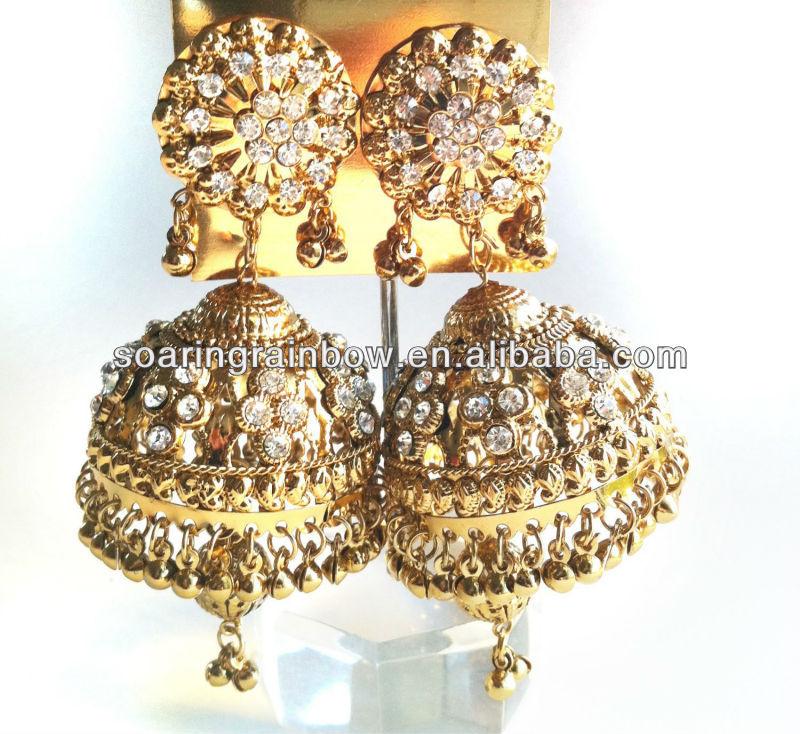 Diamond Gold Jhumka Earrings - Buy Diamond Gold Jhumka Earrings ...
