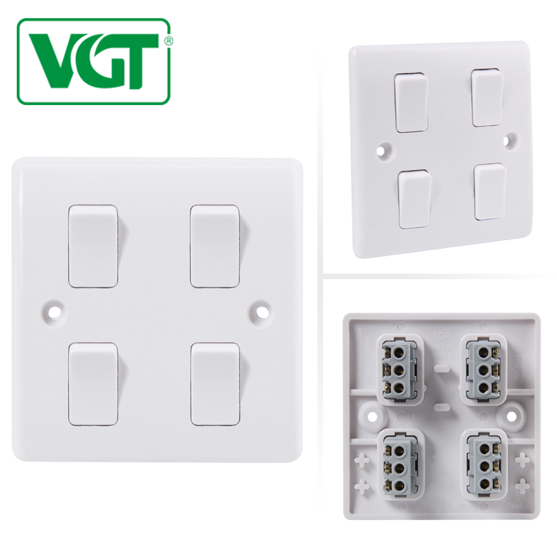 4 Gang 2 Electric Wall Different Types Of Electrical Switches For ...