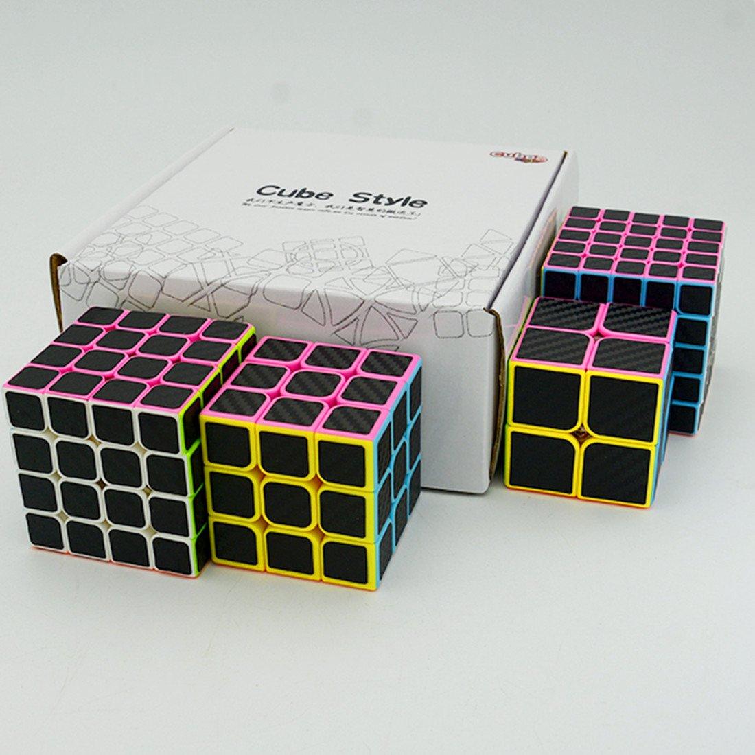 CuberSpeed Magic cube 4x4 Stickerless Bright with black sticker Speed cube Phantom Carbon fiber sticker 4x4x4 Color Magic cube Yongjun