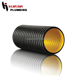 JH0579 hdpe corrugated pipe flexible corrugated 6 inch flexible plastic pipe clear hdpe pipe
