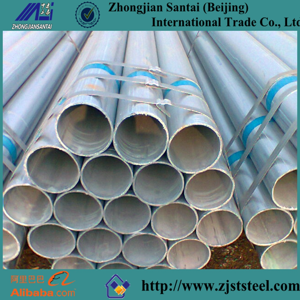 Bs 1387 galvanized steel piping for Scaffolding /greenhouse/construction