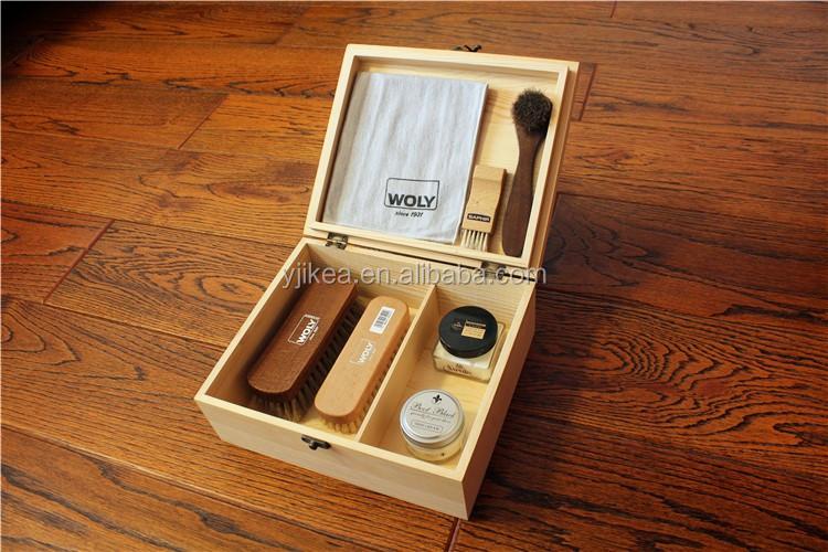 Hochwertige Holzschuh Pflege Box Luxus Holz Schuhcreme Box Durable