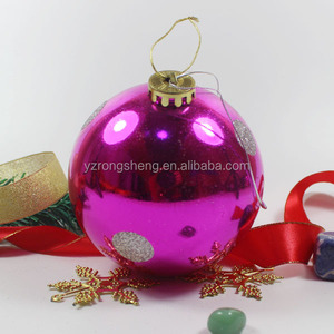 wholesale large purple christmas balls ornaments