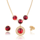 luxury stainless steel women stone african gold jewelry sets